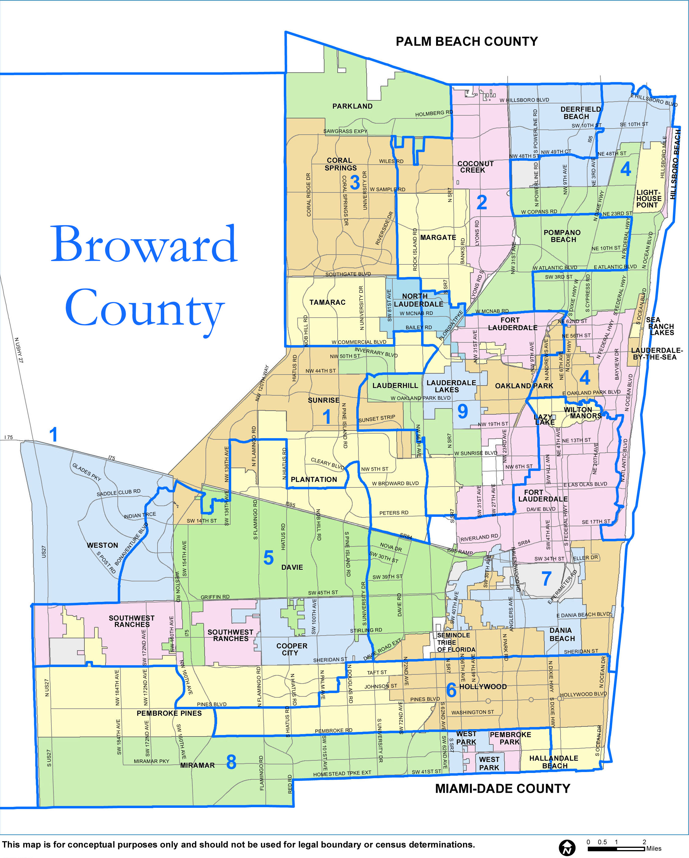 Broward County Map - Check out the Counties of Broward