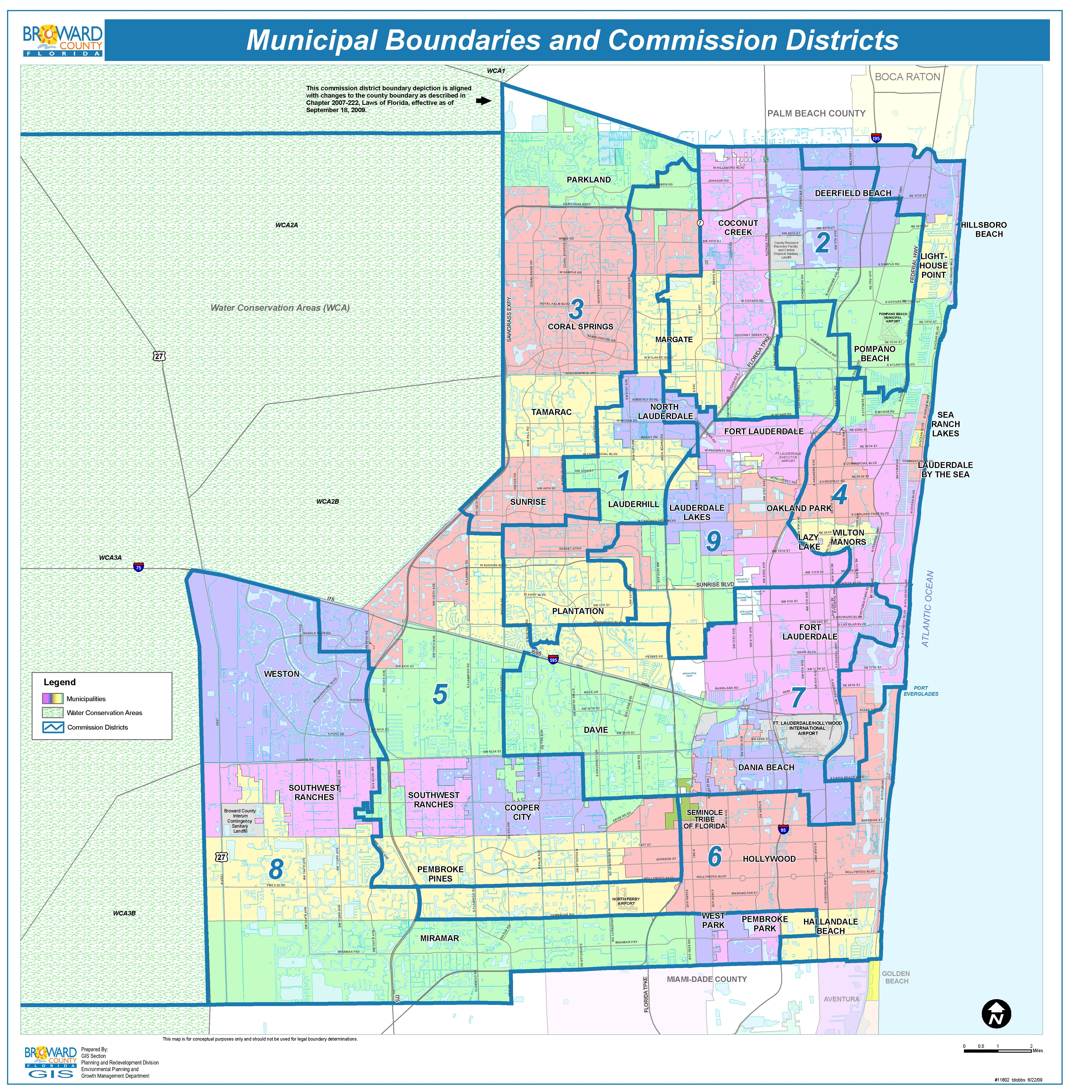 Map Of Broward County Broward County Map   Check out the Counties of Broward